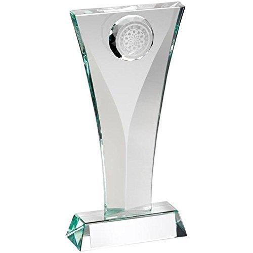 19,7cm Jade Glas Darts Trophy Award mit gratis Gravur bis zu 30Buchstaben jr3-td623l