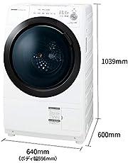 シャープ ドラム式 洗濯乾燥機 ヒーターセンサー乾燥 左開き(ヒンジ左) 洗濯7kg/乾燥3.5kg ホワイト系 幅640mm 奥行600mm DDインバーター搭載 ES-S7