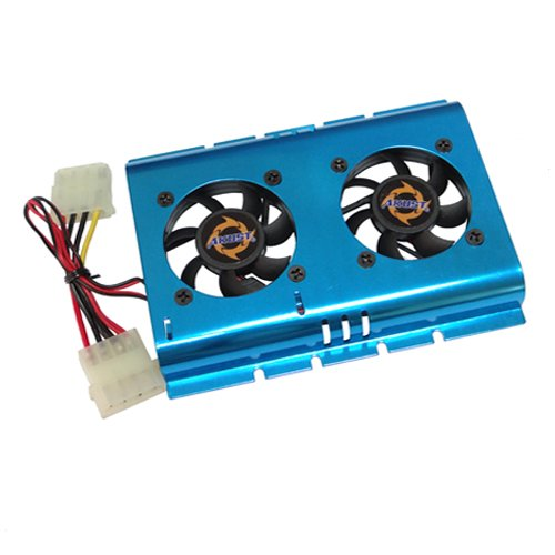 Akust 3.5 Inch Hard Disk Drive HDD Cooling Fan Blue
