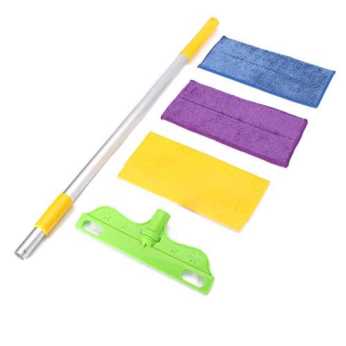 Lisansang Fregonas de piso de lavado de manos libres de doble cara plana fregona de microfibra limpiador de piso herramientas de limpieza de azulejos