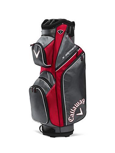 Callaway X Series Bolsa para Palos de Golf, Hombre, Multicolor (Rojo/Gris), Talla Única