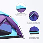Sable Pop Up Beach Tent Purple, Sun Shelter 2 3 Man Tent for Kids Adults Windproof Waterproof and Quick Set-up, with Carry Bag for Outdoor Garden, Camping, Fishing, Picnic 16