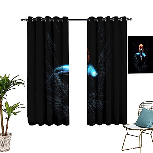 Rideaux occultants pour salle de séjour et salle d'étude, motif super-héros Spider_man, Dark Action Art, 213,4 x 160 cm