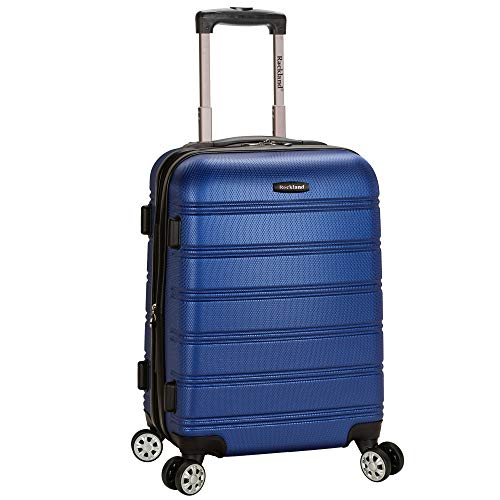 Rockland Melbourne Hardside Expandable Spinner Wheel Luggage, Blue, Carry-On 20-Inch