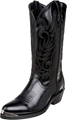 Laredo Mens McComb Round Toe Western Cowboy Boots Mid Calf - Black - Size 13 D