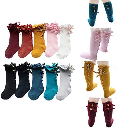 10 Pairs 5 Pairs 3 Pairs Newborn Baby Litter Girl Toddler Knitted Knee High Cotton Socks 0 5t product image