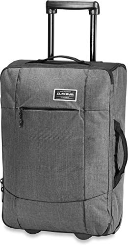Dakine Carry On Roller Hand Luggage Suitcase with Wheels, Travel Luggage Trolley with Wheels, Travel Bag with Wheels and Carry on Luggage with Telescopic Handle and YKK Zipper, Grey