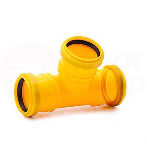Tube de drainage coudé en T - 50 mm de diamètre - Bouchon ou réducteur de 72 à 100 mm de diamètre - tube de fond de canal haute température - Clapet anti-retour - 45 °, 67 °, 90 °, T-Stück, 3x HT-KG Anschluss Ø 50 mm (MKK-15)