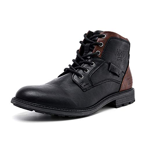 AMAPO Men's Oxfords Boots,Mens Boots Casual Mid-Top Motorcycle,Men Boots Mens Dress Boots,Ankle...