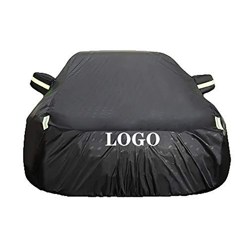 Guoguocy Fundas para Coche Compatible con la Cubierta del automóvil BMW X6 M, 100% A Prueba de Agua Anti-Freez Funda Anti-congelación, Logotipo Personalizado (Color : Black, Size : 2015 X6 M)