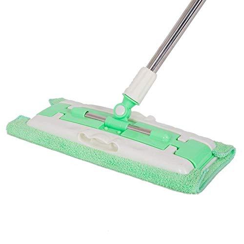 FGDSA El trapeador de Limpieza de Pisos estático para Polvo y Cepillo se USA con toallitas húmedas o secas,2 Cabezales de Repuesto