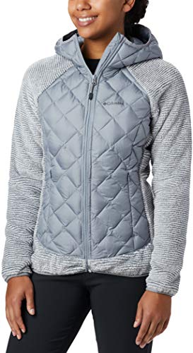 Columbia Sportswear Damen Techy Hybrid Fleece Fleecejacke, Tradewinds Grey, L