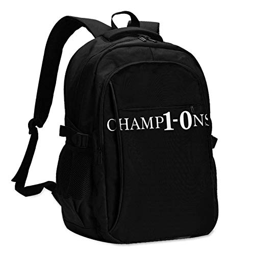 Travel Laptop Backpack, LFC 10 World Club Cup Champions Travel Laptop Backpack School Bag Outsdoors Sling Bag with USB Charging Port AntiTheft Men's and Women's Backpacks