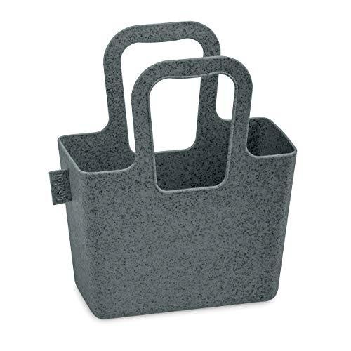 Koziol Tasche Taschelini, Tragetasche, Utensilo, Aufbewahrung, Thermoplastischer Kunststoff, Organic Deep Grey, 5415673