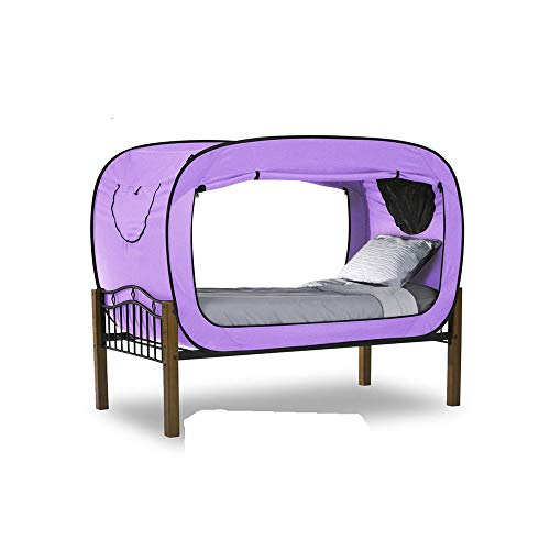 CJJ-HW Bed college student dormitory artifact single privacy tent foldable mosquito net indoor bed with warm account speed open sports and leisure,tents for beach (Color : Purple)