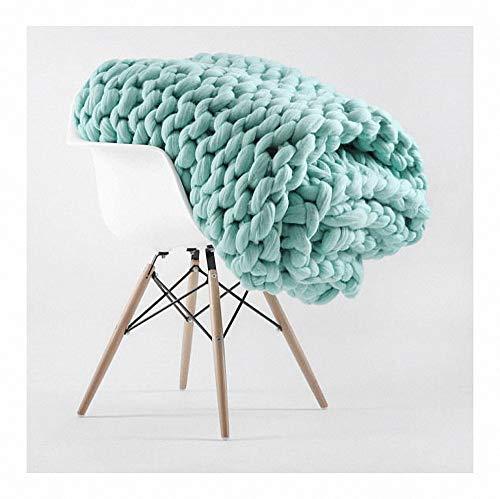 Merino wol garen arm breien gooien grof gebreide wollen deken als sprei deken handgemaakte chunky wol warm voor huisdier bed stoel sofa yoga mat tapijt