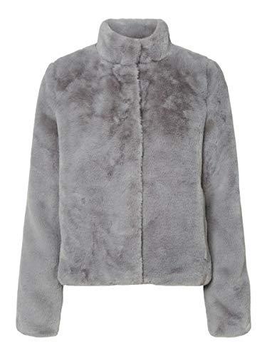 Vero Moda VMTHEA Short Faux Fur Jacket Noos Chaqueta, gris congelado, XL para Mujer
