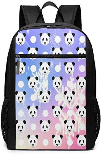 Lawenp Dream Panda Unisex Backpacks 17 Inch School Bookbag Shoulder Bag Casual Daypack Laptop Bag Dream Panda