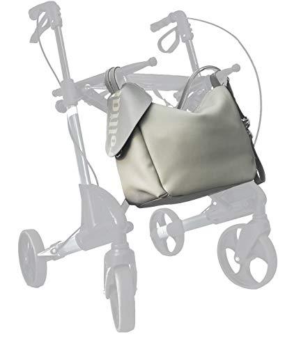 rollial Modell Elisa, Rucksack, Umhängetasche, universelle Rollator Tasche, für Damen, wetterfest, multifunktional, grau