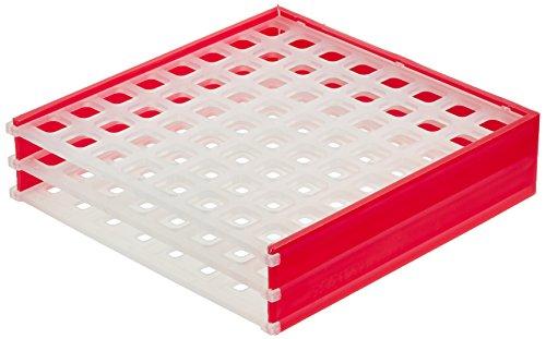 neoLab 2-1642 neoRack für EPPIs u.Kryoröhrchen, 8 x 8 Plätze, Rot/Weiß