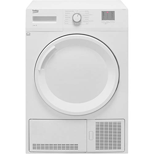 Beko DTGC8001RW Freestanding B Rated Condenser Tumble Dryer - White