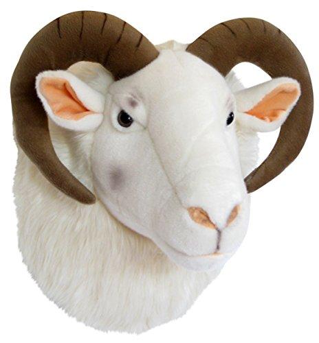 Plüschtrophäe Schafsbockkopf - lebensecht - XL - Plüschtier Trophäe Schaf Schafbock Plüsch