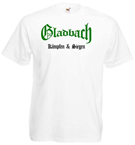 world-of-shirt Herren T-Shirt Gladbach kämpfen und siegen