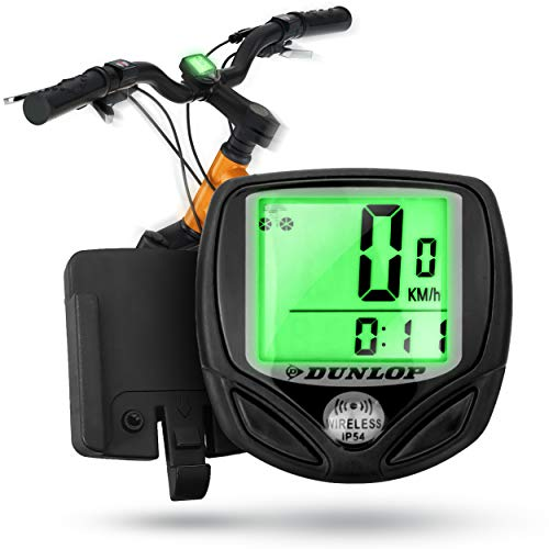 Dunlop Fahrradcomputer Fahrradtacho Fahrrad Tacho - Blitzmontage - Wasserdicht - Leicht - Batterie sparend - Kabellos drahtlos Speed Bike Sensor bundle computers Kilometerzähler Fahradtacho Computer