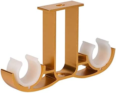Guard 4pcs Double Curtain Rod Brackets Ceiling Mount Bracket Aluminum Alloy Double Curtain Drapery Rod Brackets For 28 32mm 1 1 1 25 Inch Diameter Rod Satin Gold Finish Amazon Co Uk Kitchen Home
