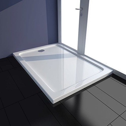 Tidyard Duschwanne Duschtasse 70x100 cm Brausewanne Brausetasse Duschbecken Dusche Wanne Bad Badezimmer Rechteckiger ABS-Duschwannenboden Weiß