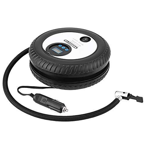 SANON Compresor de Aire Portátil Digital de La Bomba del Inflador del Neumático del Coche de 12V 260Psi para El Barco de Aire de La Bicicleta de La Bola del Coche