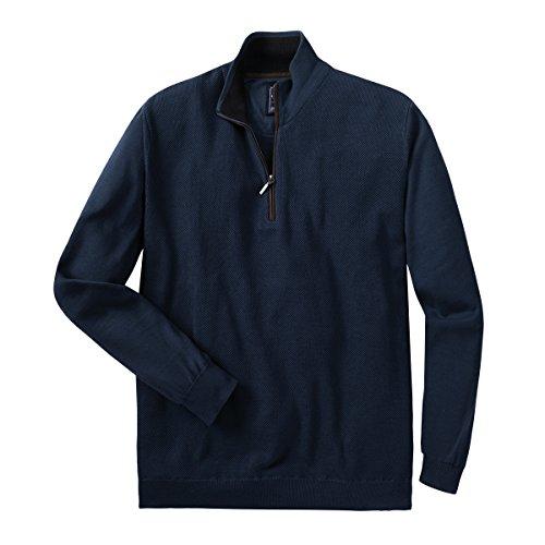 Redmond XXL Strick-Troyer mit Zipper in dunkelblau, XL Größe:3XL