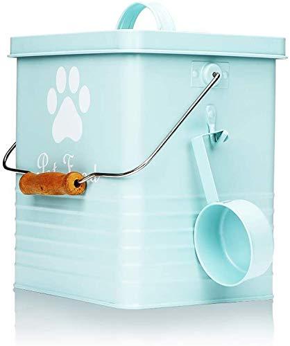 Cubo de almacenamiento para comida de mascotas,depósito de almacenamiento para galletas para perros,recipiente de almacenamiento para comida de gatos con tapa y práctica pala