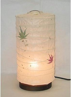 美濃和紙製 モダンインテリア照明 ミニスタンド型 プラグライト もみじ