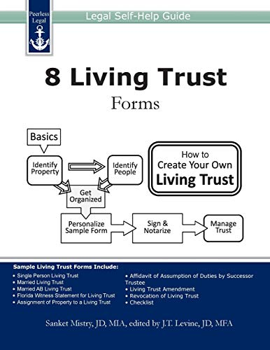 Compare Textbook Prices for 8 Living Trust Forms: Legal Self-Help Guide 1 Edition ISBN 9781940788043 by Mistry, Sanket,Levine, J. T.