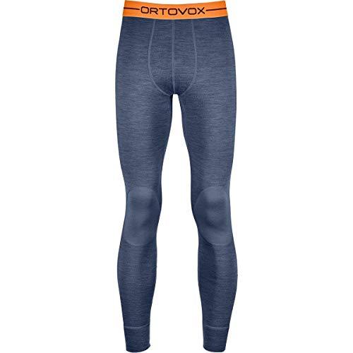 ORTOVOX Herren 185 Rock'n'Wool Long Pants Funktionsunterwäsche Lang, Night Blue Blend, M