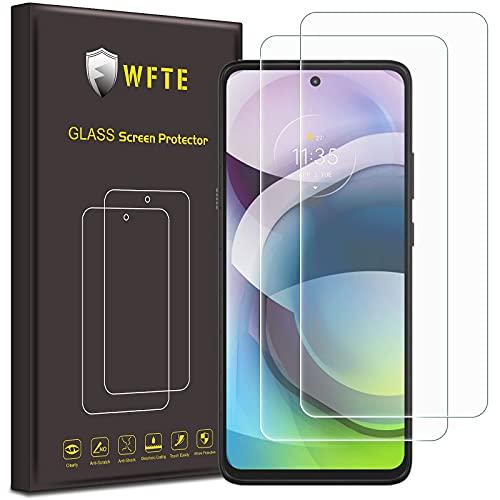 WFTE [2-Pack] Protector de Pantalla para Motorola Moto G 5G,9H Dureza,Huellas Dactilares Libre,Sin Burbujas,Cristal Templado Moto G 5G