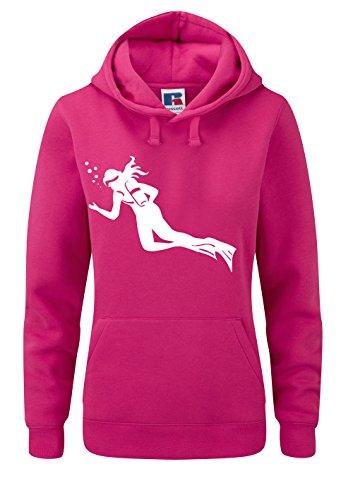 Taucher Hoodie Damen Taucher Shirt Evolution Diver Wassersport Damen Sweatshirt Lusitge Shirts Sportpulli lustiges tauchershirt Tauchlehrer