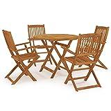 Juego de Muebles de jardín, Juego de Comedor al Aire Libre, Mesa y sillas para...
