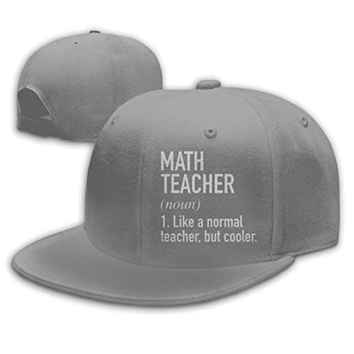 Math Teacher Defined - Gorra de béisbol ajustable para hombre, diseño de Hip Hop Dad