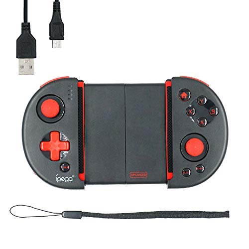 Mcbazel Joystick del controlador inalámbrico, iPega PG-9087S Red Knight Telescopic Bluetooth Controller para Android / Windows PC Not for IOS