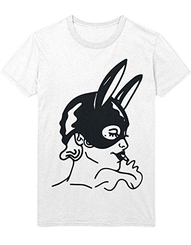 T-Shirt Ariana Grande Bunny MASK B000012 Weiß M