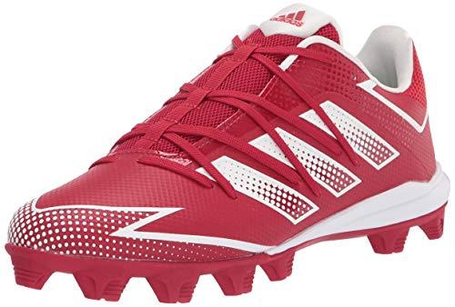 adidas Men's EG5641 Baseball Shoe, Power Red/White/Power Red, 13