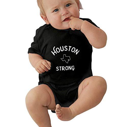 Babybekleidung Jungen Mädchen T-Shirts, Houston_Strong Infant Romper Jumpsuit Kids' One-Piece Organic Cotton Short Sleeve Onesie Bodysuits for Baby Newborn