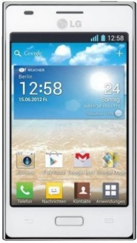 LG E610 Optimus L5 Smartphone (10,2 cm (4 Zoll) Touchscreen, 5 Megapixel Kamera, UMTS, WiFi, Android 4.0) weiß