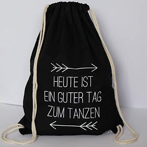 ElliGa Turnbeutel JGA Rucksack für Junggesellinnenabschied Tanzen schwarz