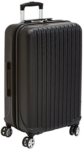 AmazonBasics Hardside Spinner Luggage - 20-Inch, Carbon Black