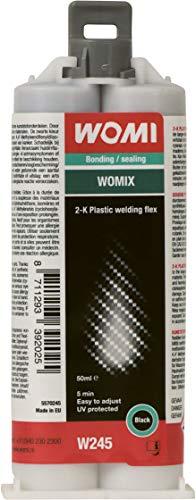 Womi W245 - Colla in plastica 2-K, 50 ml, nero - 5570245
