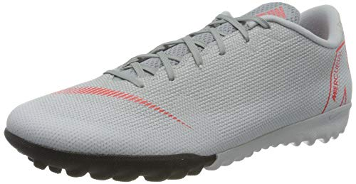 Nike Unisex-Erwachsene Mercurial Vapor XII Academy TF Futsalschuhe, Mehrfarbig (Wolf Grey/Lt Crimson/Pure Platinum 060), 38.5 EU