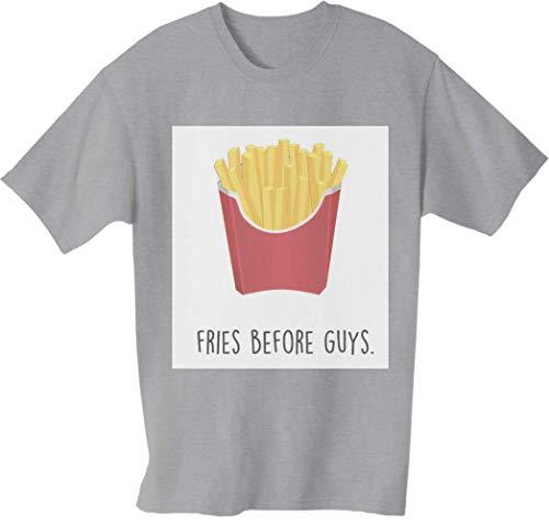 Fries Before Guys Herren T-Shirt Large